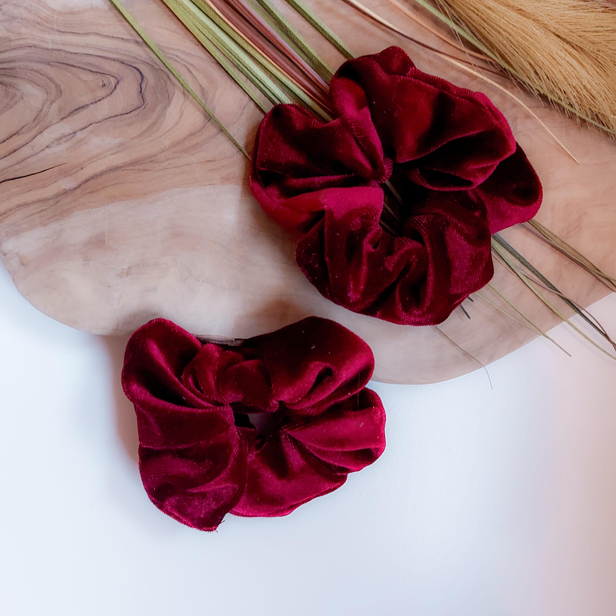 scrunchie-fluweel-port-rood