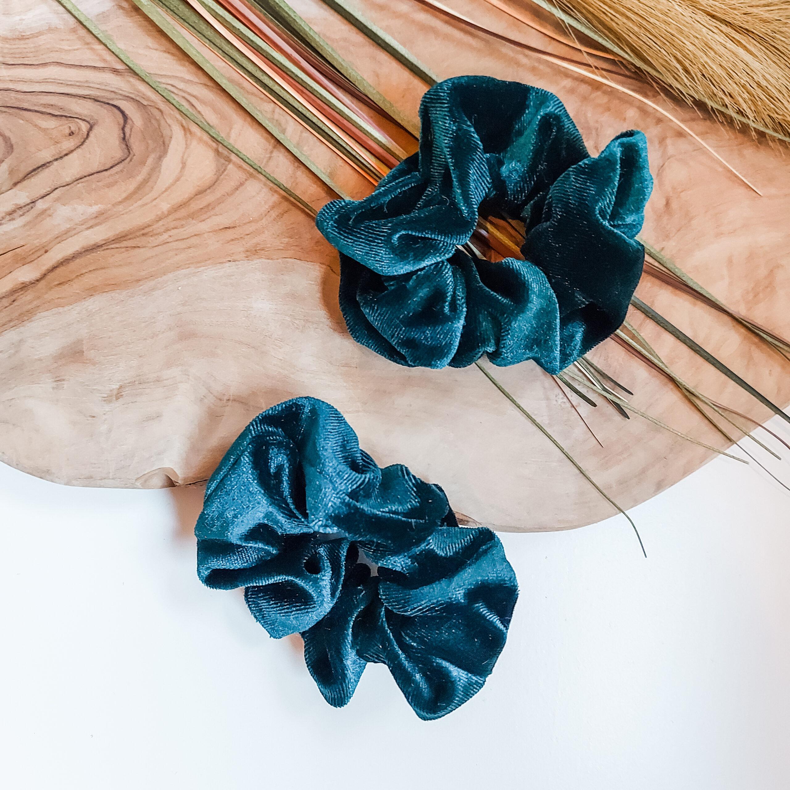 scrunchie-fluweel-groen