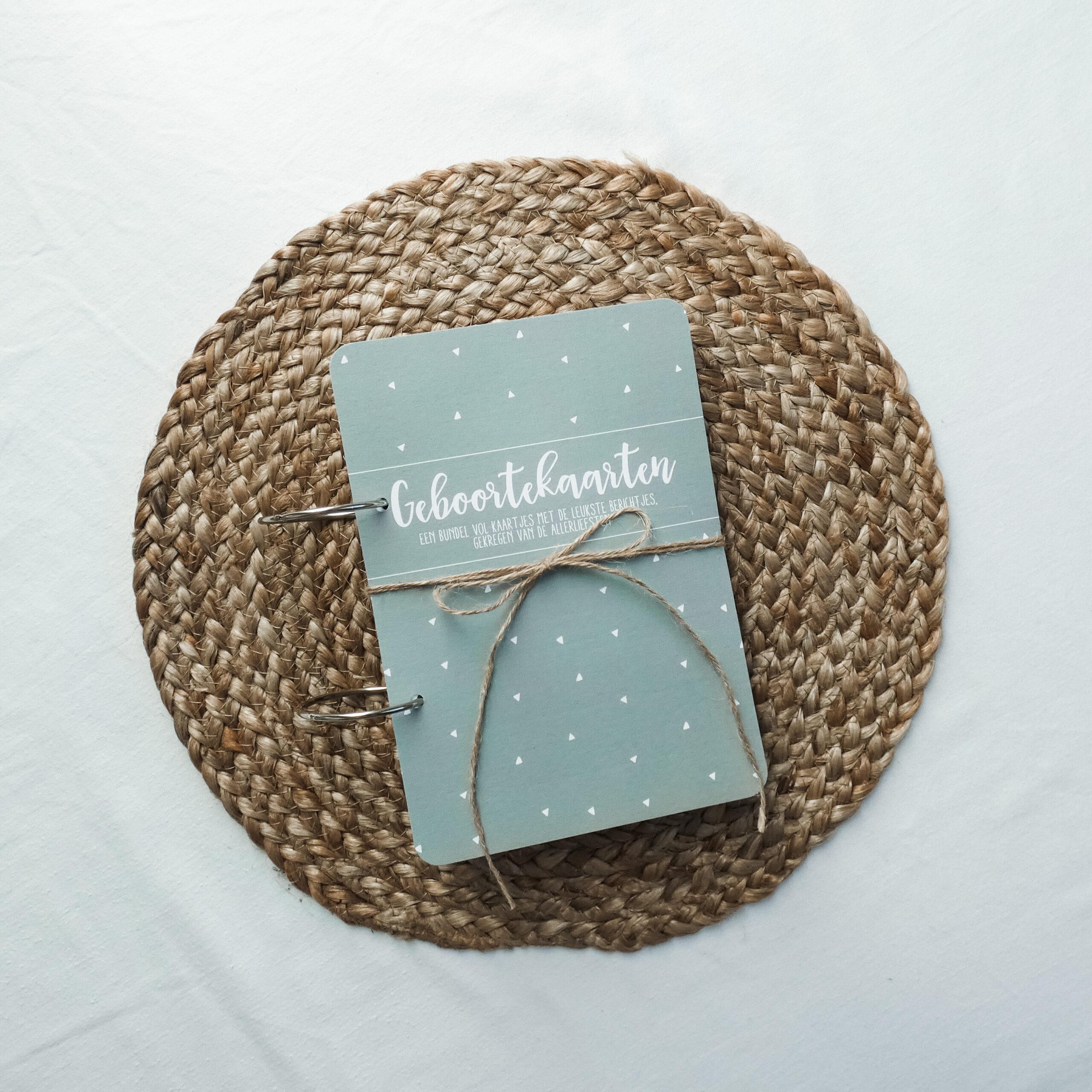 kaartenbundel-geboorte-groen-voorkant